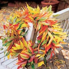 fall wreath for backyard and porch decorating