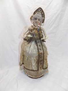 Boudoir-Cloth-Doll-Candy-Container-Russian-Clothing