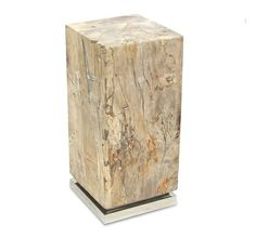 Petrified Wood Stump Drink Table Natural