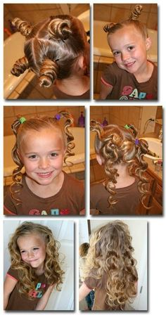 Easy way to curl childs hair with no heat