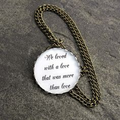 Edgar Allan Poe Quote Necklace  We loved with a by MistyAurora, $19.50