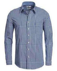 Herren Trachtenhemd Karo blau