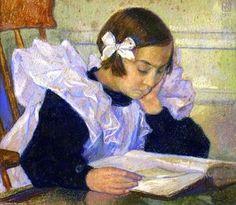 Theo Van Rysselberghe - Èlisabeth Reading