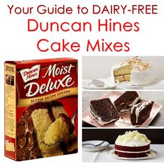 Dairy-Free Duncan Hines Cake Mixes - Most varieties are kosher parve, and we tell you how to make them vegan, too!