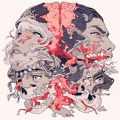 "3,133 Me gusta, 9 comentarios - Hi-Fructose Magazine (@hifructosemag) en Instagram: ""Illustration by Sachin Teng @sachinteng ・・・ Album art for the @mondotees vinyl OST of #castlevania…"""