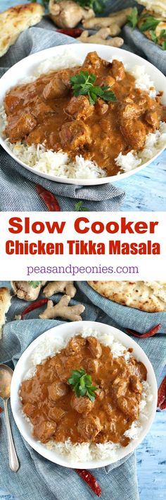 Slow Cooker Chicken Tikka Masala is incredibly easy to make home, by adding all the ingredients to your slow cooker and let it cook to perfection.