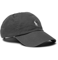 <a href='http://www.mrporter.com/mens/Designers/Polo_Ralph_Lauren'>Polo Ralph Lauren</a>'s baseball cap strikes the perfect balance between sporty and preppy. Designed in dark-grey, this cotton-twill style is punctuated with white embroidered emblems and an adjustable tab so you can achieve your preferred fit.