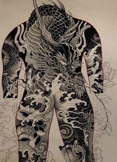 Short Hair Cuts, Short Hair Styles, Japanese Back Tattoo, Back Piece Tattoo, Oriental, D Tattoo, Japan Tattoo, Back Pieces, Irezumi
