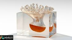 I will show you how to stop an orange splash in water in time. Using epoxy resin Resin Art, Epoxy, Vase, Orange, Projects, Manualidades, Log Projects, Blue Prints, Vases