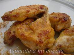 Alas de pollo a la mostaza y miel