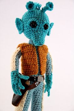 Greedo Star Wars Amigurumi Crochet Pattern by craftyiscoolcrochet