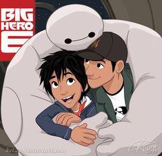 Baymax, Hiro and Tadashi by kel20 <<< I love this so much. <3 ^_^