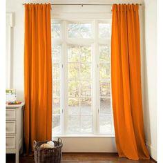 orange drapes for nursery
