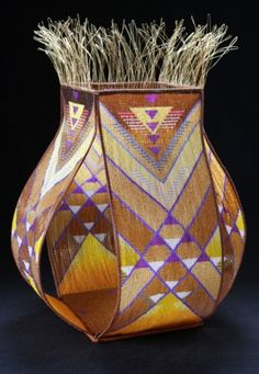 Loom-woven Bead Work and Wire Warp Baskets