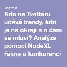 Kdo na Twitteru udává trendy, kdo je na okraji a o čem se mluví? Analýza pomocí NodeXL řekne o konkurenci všechno - Tyinternety.cz