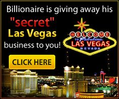 Here is a new Business Opportunity...For Less than $100 you can have  your very own Travel Booking Website for Las Vegas ! You have to check out the Video ! Click on the pic and follow links to get the details.............
