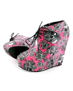 Iron Fist Bright Light Wedge Platform Shoe - Pink - Punk.com