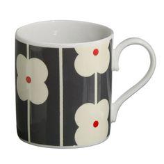Orla Kiely | USA | House | Kitchen | Multi Flower AbacusMug (MFAP6H/700) | Slate