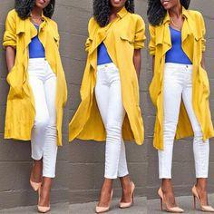 Fashion Turndown Collar Half Sleeves Yellow Camel Wool Long Trench Coat