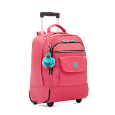 Some days you just need to roll with it. The compartment capacity of our Sanaa backpack is awesome (there are three before you even open the top! Rolling Bag, Rolling Backpack, Mini Backpack, Cool Backpacks, Wheeled Backpacks, Backpack With Wheels, Kipling Bags, Master's Degree, Pink Bags