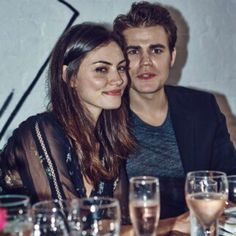 Paul and Phoebe out for dinner in NYC a few nights ago  #weskin #Padgram