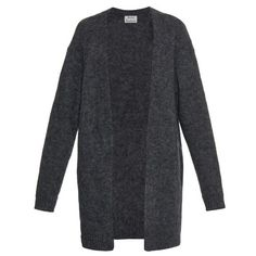 ACNE STUDIOS Raya mohair and wool-blend oversized cardigan found on Polyvore