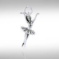 Ballet Dancer Silver Pendant  LP1329