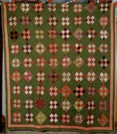 vintage quilt | 1860's Vintage Nine Patch