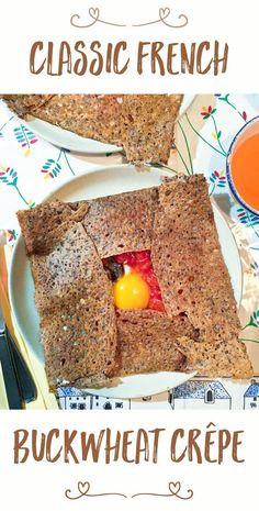 This classic, savory buckwheat crêpe is made mostly with pantry ingredients, meaning it can be on your dinner table tonight! Flour Recipes, Raw Food Recipes, Vegetarian Recipes, Dinner Recipes, Freezer Recipes, Drink Recipes, Yummy Recipes, Dinner Ideas, Healthy Recipes