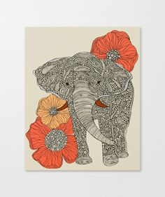 Lucky Elephant Canvas Print - Let It Hang Collection - Dot & Bo