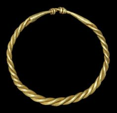 Viking Gold Twisted Bracelet    9th-11th century AD . A bracelet formed with twisted expanding rods, the closure formed with the ends twisted round each other.