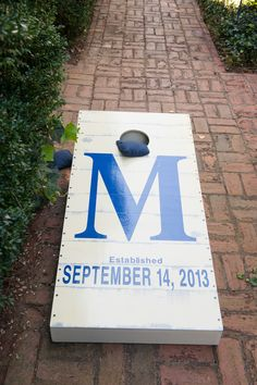 Monogrammed Wedding corn hole boards. Made by: Dad