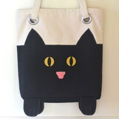 Cat Tote Bag FREE Sewing Pattern and Tutorial - https://sewing4free.com/cat-tote-bag-free-sewing-pattern-tutorial/