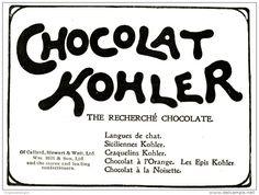 Original - Anzeige / Advertise 1903 : (ENGLISH) CHOCOLAT KOHLER  -  115 x 80 mm