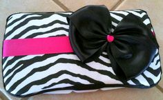 Hot Pink Zebra Baby Wipe Case handmade by Monkey by monkeydelights, $14.00