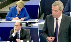 AHEAD of Thursday's EU referendum voters have been remembering a impassioned address by Ukip leader Nigel Farage to German chancellor Angela Merkel and French president Francois Hollande.
