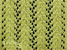 Vine lace is a simple four-row lace pattern and is my current favorite stitch pattern!