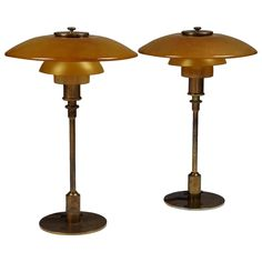 Pair of Table Lamps 3/2 Designed by Poul Henningsen, Denmark 1926-1927 | From a unique collection of antique and modern table lamps at https://www.1stdibs.com/furniture/lighting/table-lamps/