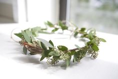 MAIDEN KIND // Greenery head wreath complete with feathers // bohemian wedding, flower crown, floral crown, boho bride.