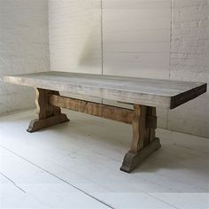 Oak Dining Table, raw farmhouse style dining table, the more hits it takes the more character is added