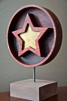 Table top Wooden star art от PiccadillySignsDecor на Etsy