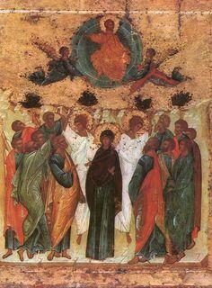 Вознесение. Андрей Рублев Orthodox Icons, Photo Wall, Pictures, Painting, Photos, Photograph, Painting Art, Paintings, Painted Canvas