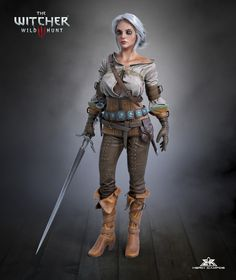 Ciri - fanart, Herik Campos on ArtStation at https://www.artstation.com/artwork/2WdKY