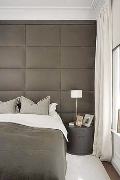Fabric Headboard Ideas From modern and contemporary to traditional classics, discover the top 60 best headboard ideas. Explore luxury bedroom interior designs for your bed. Modern Bedroom, Home, Bedroom Inspirations, Home Bedroom, Bedroom Interior, Bedroom Design, Luxurious Bedrooms, Interior Design Bedroom, Upholstered Walls