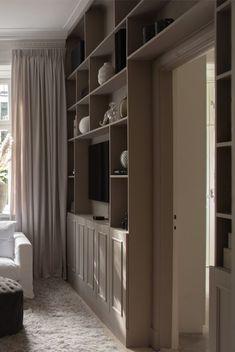 Library Design, Home Office Design, Room Interior, Interior And Exterior, Smart Storage, Storage Ideas, New Homes, Living Room, House