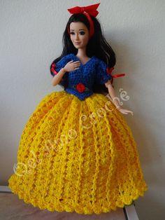 #Vestido #Dress #Crochet #  #Brancadeneve  #Barbie #Doll #RaquelGaucha