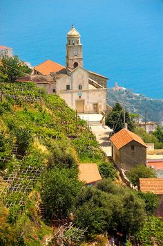 Chapels on the hill side of the Amalfi coast near Amalfi, Italy -- copyright: Paul_Williams. All rights reserved