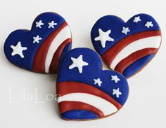All the cookie decorating tutorials, tips, recipes and color help you need to make easy and fun decorated sugar cookies! Patriotic Crafts, July Crafts, Patriotic Decorations, Holiday Crafts, Holiday Recipes, Rock Painting Ideas Easy, Rock Painting Designs, Painting Patterns, Stone Crafts