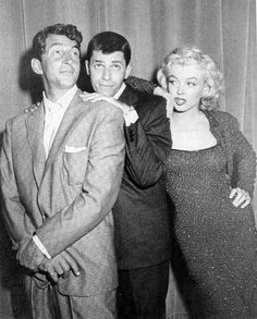 Dean Martin, Jerry Lewis and Marilyn Monroe.I loved watching Jerry Lewis and Dean Martin movies!the memories :-) Golden Age Of Hollywood, Hollywood Stars, Classic Hollywood, Old Hollywood, Hollywood Quotes, Hollywood Icons, Hollywood Glamour, Hollywood Actresses, Jerry Lewis