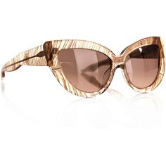L Farrow X Charlotte Olympia Feather sunglasses ❤ liked on Polyvore